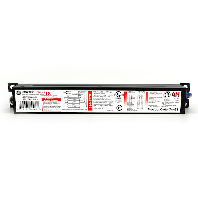 Electronic Ballast T8 - 120 to 277 V - 4 Lamps