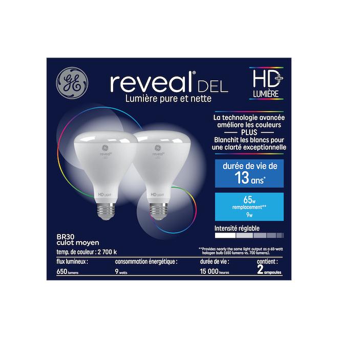 LED Bulb BR30 9 W - Soft White - Pack of 2