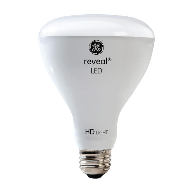 Ampoules d'intérieur à DEL HD Reveal de 65W de GE, BR30, paquet de 2
