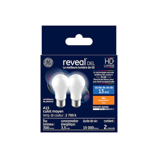 LED Bulb A15 4 W - Dimmable - Soft White - Pack of 2