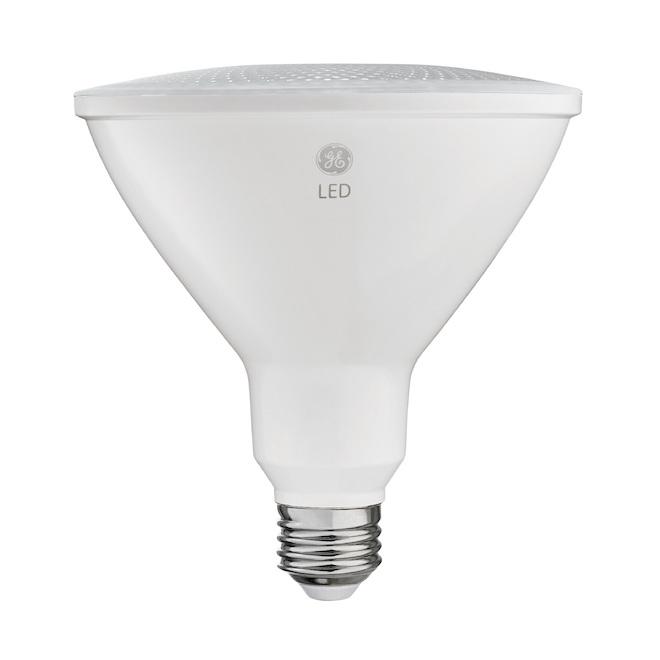 Ampoule DEL ultra brillante pour projecteur d'extérieur PAR38 de GE à culot moyen, 16 W équivalent à 120 W, blanc chaud