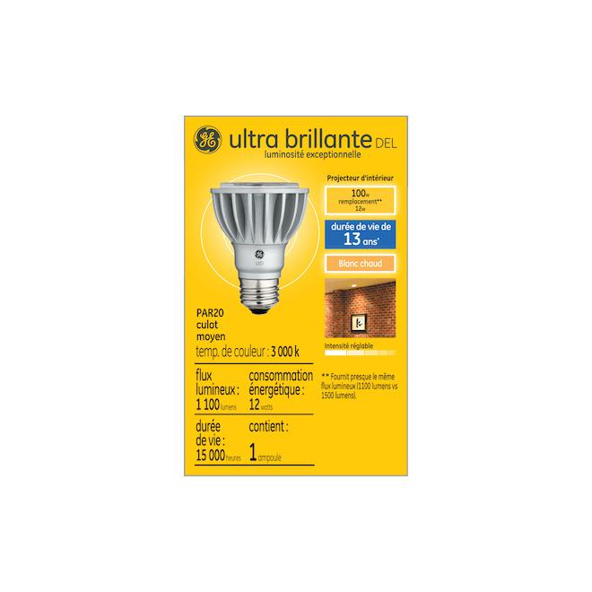 GE LED Bulb - PAR20 - 12 W - Warm White