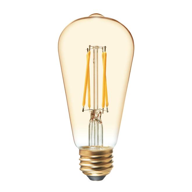 Ampoule DEL GE, ST19, 6,0 W, lumière style chandelle, 2/pqt