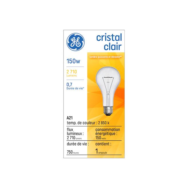 Ampoule incandescente, A21, 150 W, verre, blanc doux