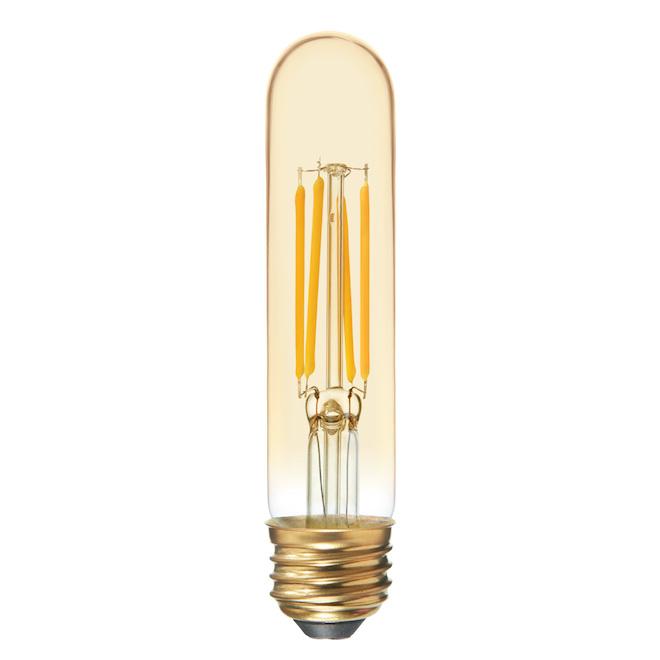 Ampoule DEL, T9, 6 W, verre, chandelle
