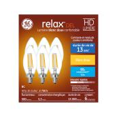 GE LED Bulb - BC - 5.5 W - Soft White - 6/Pack