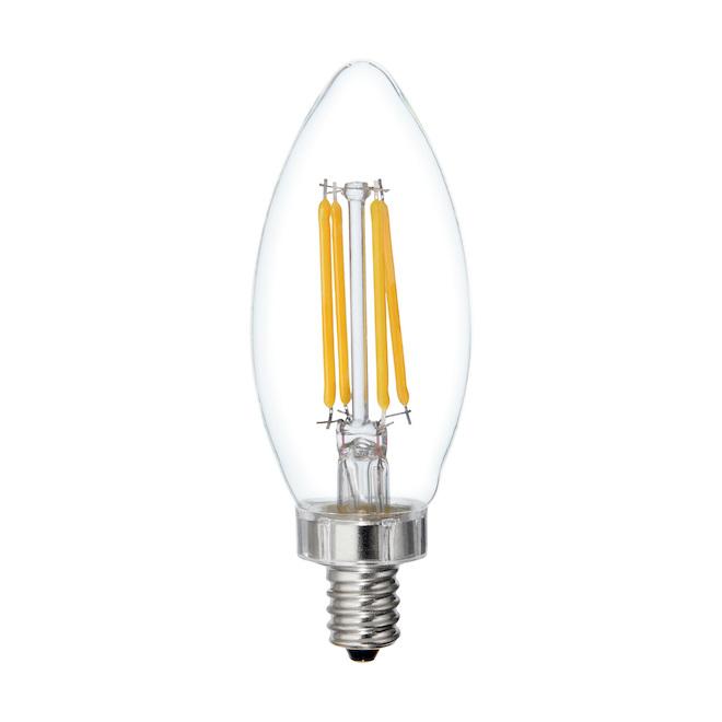 Ampoule DEL GE, BC, 5,5 W, blanc doux, paquet de 6