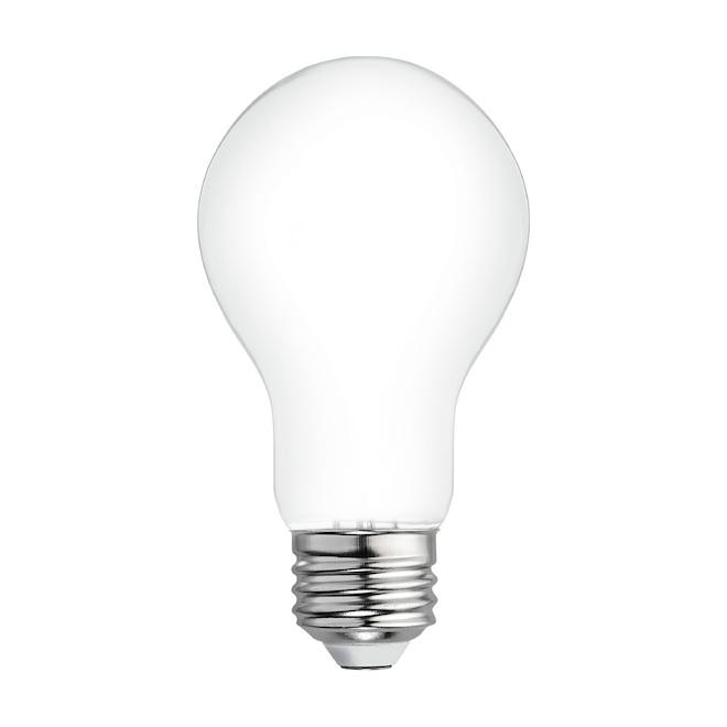 Ampoules Relax HD par GE A19 à DEL blanc doux de 40 W à usage général, paquet de 4