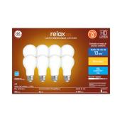 LED Bulb - A19 - 9 W - Glass - Soft White - 8-Pack