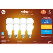 GE Relax HD Soft White 60W Replacement LED General Purpose A19 Bulb (8-Pack)