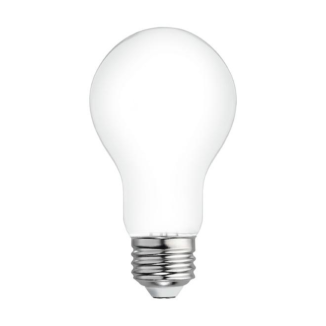 Ampoules Relax HD par GE A19 à DEL blanc doux de 60 W à usage général, paquet de 8