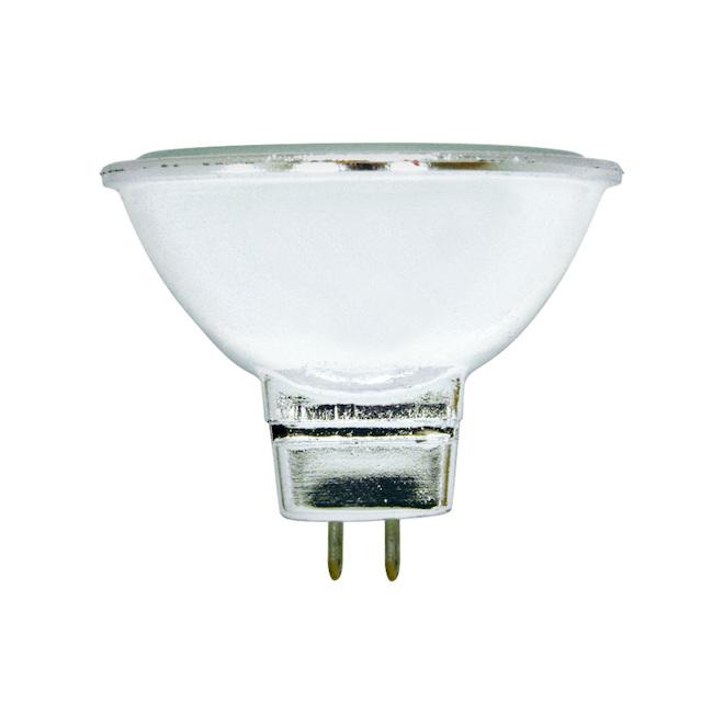 Ampoule halogène, MR16, 35 W, plastique, blanc, 3/pqt