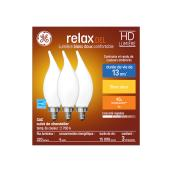 LED Bulb - CAC - 4 W - Glass- Soft White - Frosted - 3-Pack