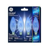 Ampoules incandescentes Reveal(MD), CAC, 60 W, 4/pqt, clair
