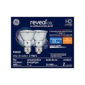 Ampoules DEL Reveal(MD), PAR20, 7 W, 2/pqt, clair