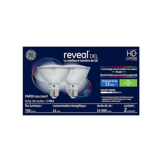Reveal(R) LED Bulbs - PAR30S - 12 W - 2/Pck - Clear