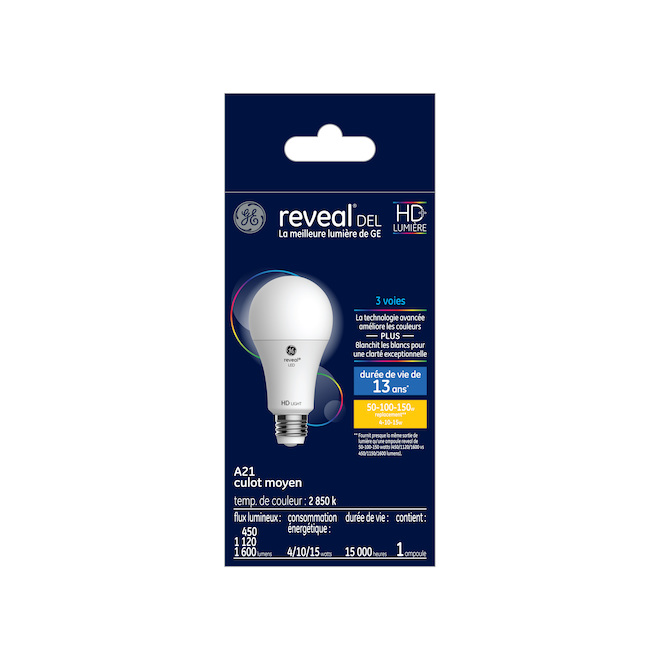 Reveal(R) LED Bulb - A21 - 3 Intensities - Clear