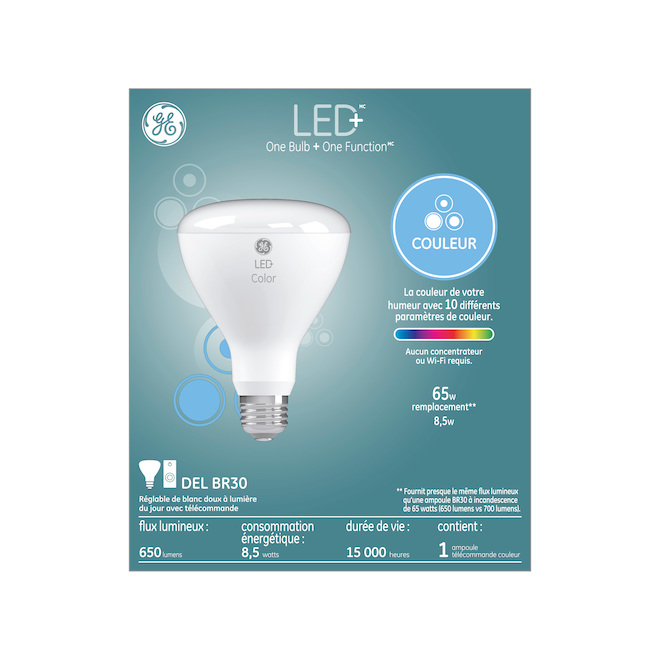 GE LED Bulb - BR30 - 8.5 W - Variable Colours