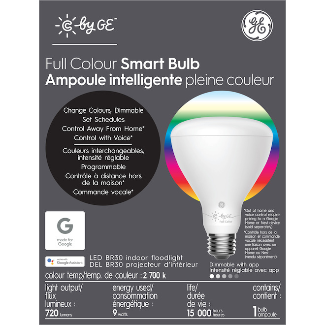 GE LED Bulb - Smart BR30 - 10 W - Variable Colours