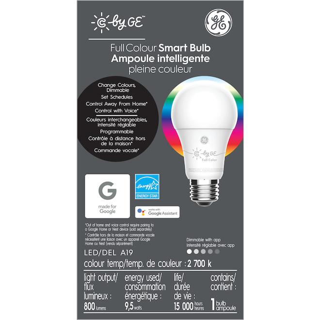 GE LED Bulb - Smart A19 - 10 W - Variable Colours