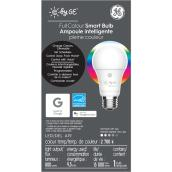 Ampoule DEL GE, A19 intelligente, 10 W, couleurs variables