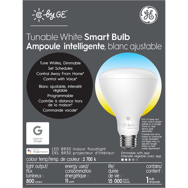 GE LED Bulb - Smart BR30 - 11 W - Variable Colours