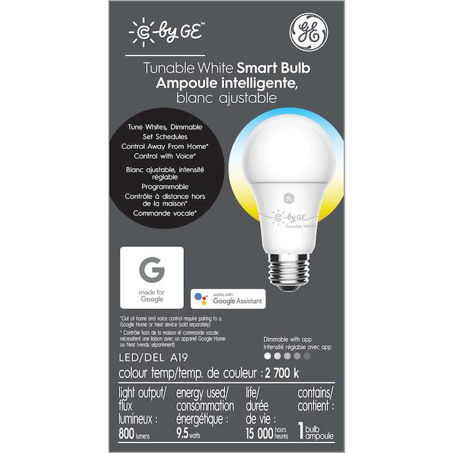 GE LED Bulb - Smart A19 - 9.5 W - Variable Colours