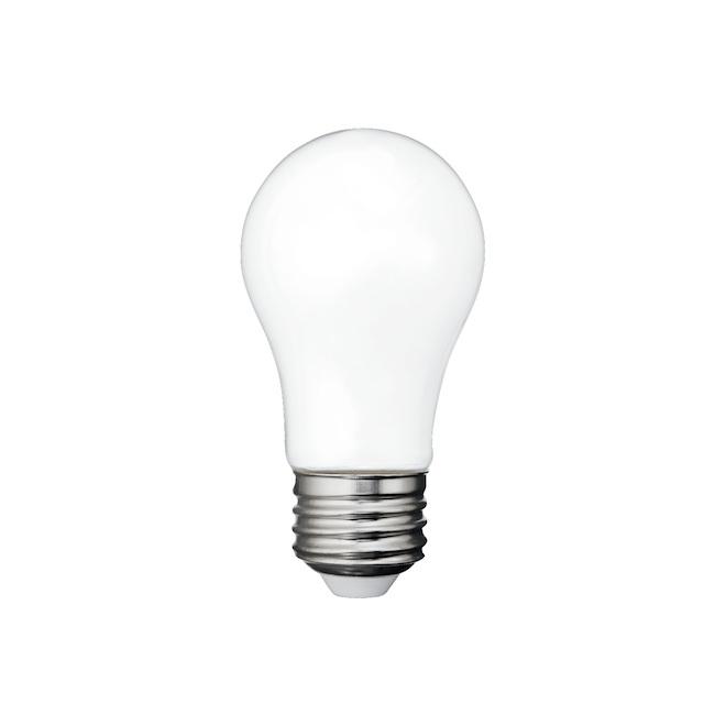 Ampoule DEL, A15, 5,5 W, verre, blanc doux, 2/pqt