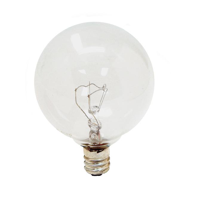 Incandescent Bulb - G16.5 - 60 W- Glass- Soft White - 2-Pack