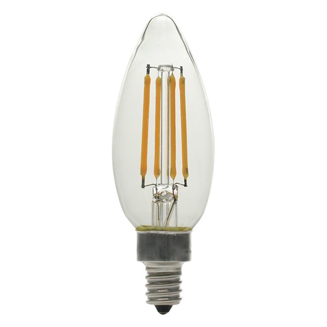 LED Bulb - B10C - 5 W - Glass - Soft White - 6-Pack