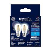 Ampoule DEL Reveal, A15, 5,5 W, verre, clair, 2/pqt