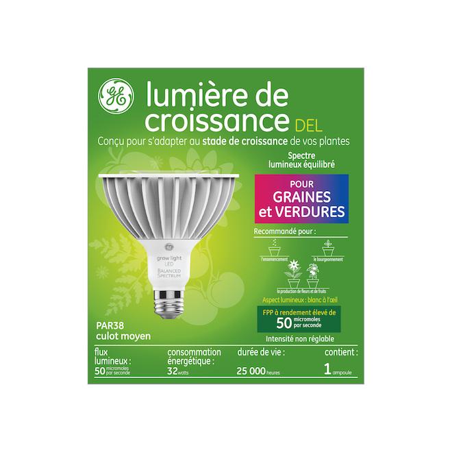 GE LED Grow Light - PAR 38 - 32 W