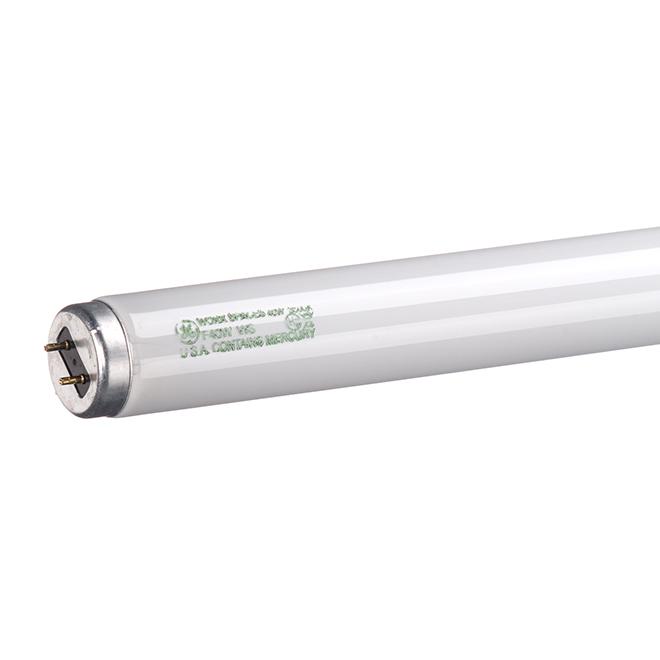 Tube fluorescent, 40 W, T12, blanc brillant, 48'', pqt/2