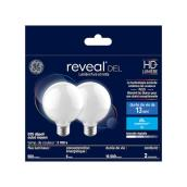 GE Reveal LED Frosted Bulb - G25 - 5.5 - 2/Pack