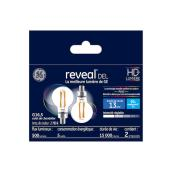 Reveal(R) LED Bulb - G16 - 5.5 W - Clear - 2/Pack