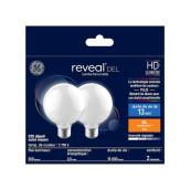 Reveal LED Frosted Bulb - G25 - 4.5 W - 2/Pack