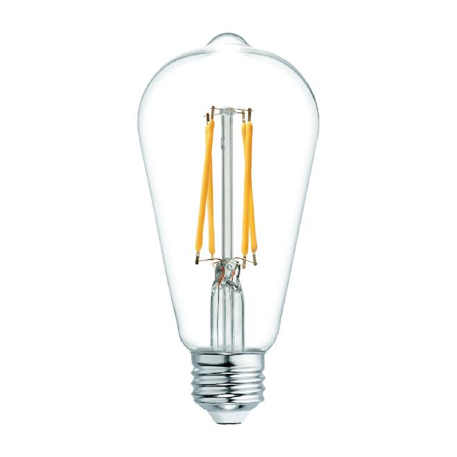 Ampoule DEL, ST19, ambré, paquet de 2