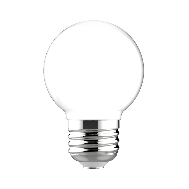 Incandescent Bulb - G16.5 - 25 W- Glass - Soft White- 2-Pack