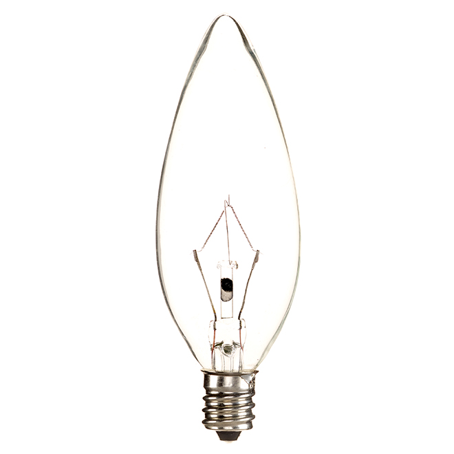 Incandescent Bulb - B10 - 60 W - Glass - Soft White - 6-Pack