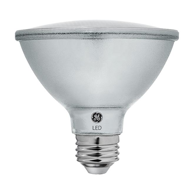 Ampoule DEL, PAR30S, 10 W, métal, blanc chaud, 2/pqt