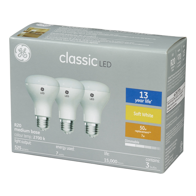 LED Floodlight R20 - 6.5 W - Soft White - 3/Pack