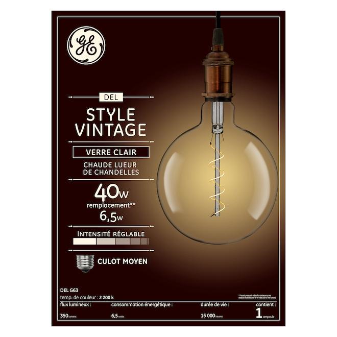 LED Bulb G63 - 6.5 W - Candlelight