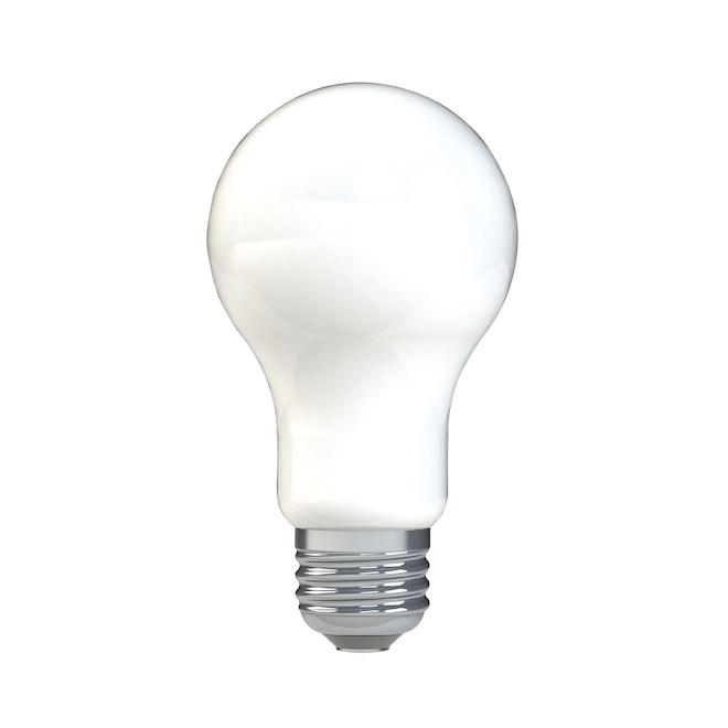 Ampoules DEL A19 pour usage général de GE à culot moyen, 8 W équivalent à 60 W, blanc doux, paquet de 8