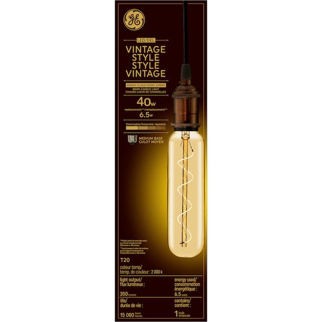 Tubular LED Bulb T20 - 6.5 W = 40 W - Amber Candlelight