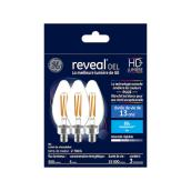 Reveal(R) LED Bulb - BC - 5.5 W - Clear - 3/Pack