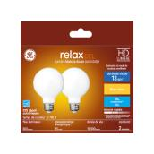 GE LED Bulb - G25 FR - 5.5 W - Soft White - 2/Pack