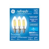 GE LED Bulb - B12C - 6 W - Day Light - 3/Pack