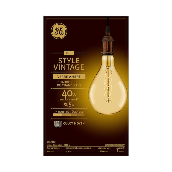 Large Vintage LED Bulb PS52 - 6.5 W = 40 W - Amber