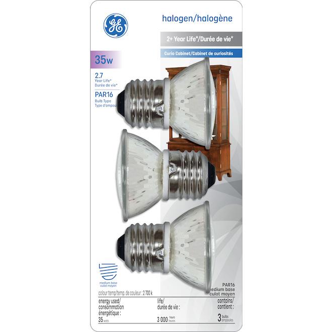 Indoor Halogen Bulb - MR16 JDR - 35W - Soft White - 3/Pack