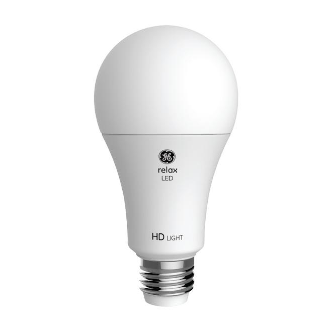Ampoule DEL GE, A21, 3 voies, 19 W, 1/pqt, blanc doux